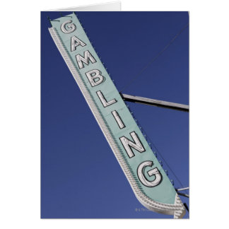 Gambling neon sign in Las Vegas, Nevada Cards