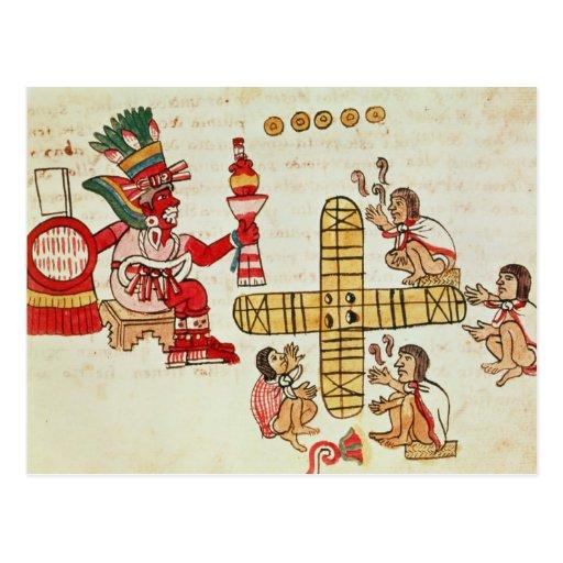 Gambling Patoli and the god Post Card
