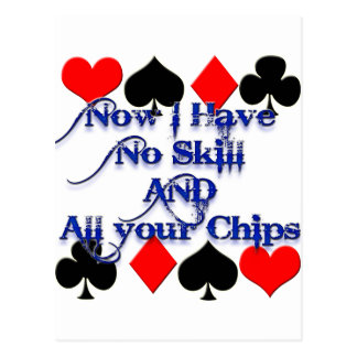 Gambling Poker Player Postcard
