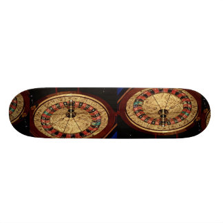 Gambling, roulette skate deck