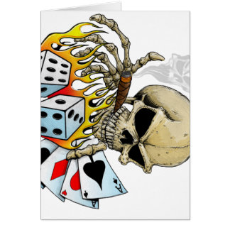 Gambling Skull Greeting Card