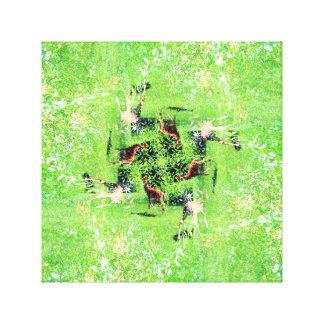 Gamboling Fawns Canvas Print