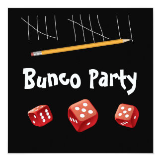 Game and Bunco Dice Invitation