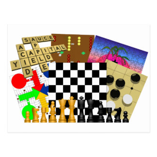 Game and Puzzle Week Postcard