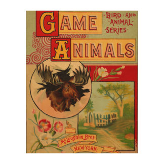 Game Animal Book Cover Wood Canvases