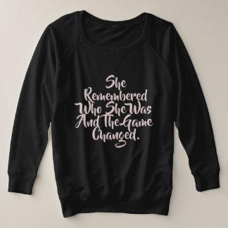 Game Changer Plus Size Sweatshirt
