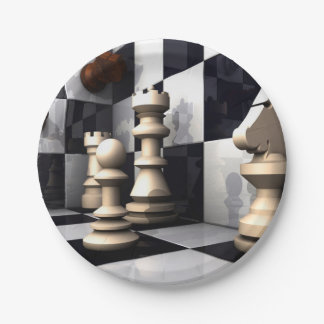 Game Chess Style 7 Inch Paper Plate