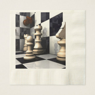 Game Chess Style Disposable Napkin