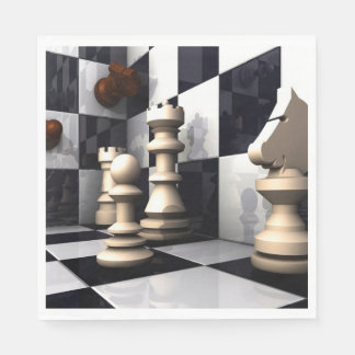 Game Chess Style Paper Napkin