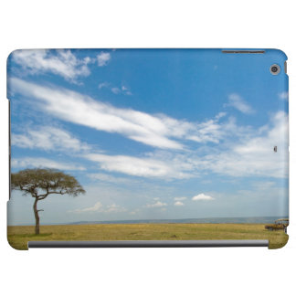 Game drive vehicle on open African plains iPad Air Cases