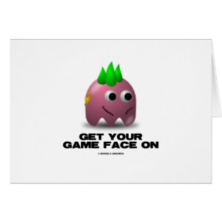 Game Face Punk Retro Avatar Greeting Card