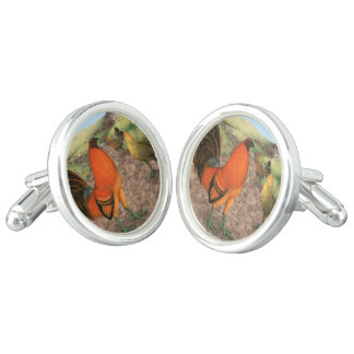 Game Fowl on the Farm Cufflinks