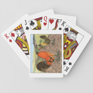 Game Fowl on the Farm Playing Cards