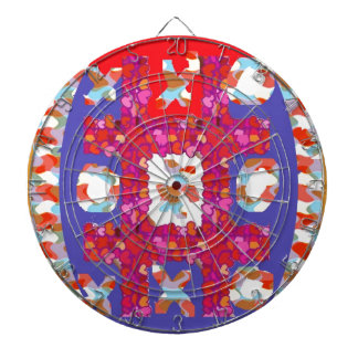 GAME Hearts Colorful Abstract : Excellent Romantic Dartboard
