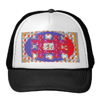 GAME Hearts Colorful Abstract : Excellent Romantic Mesh Hats