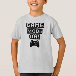 Game Mode funny gamer kids shirt