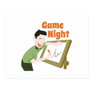 Game Night Postcard