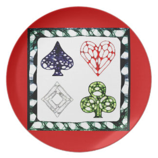 Game Night ~ Red Party Plates
