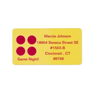 Game Night Return Address Label