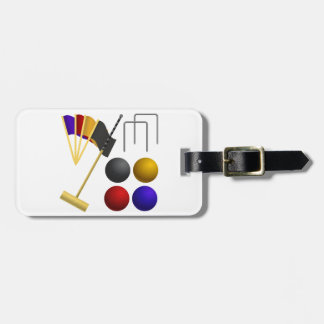 Game Of Croquet Luggage Tags