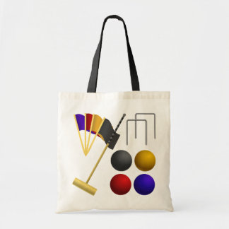 Game Of Croquet Tote Bag