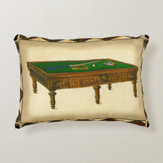 Game of Eight Ball on Billiards Table Accent Pillow