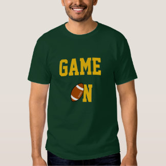 GAME ON - FOOTBALL GREEN & GOLD TEES