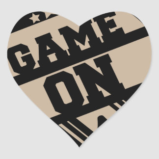 Game on heart sticker