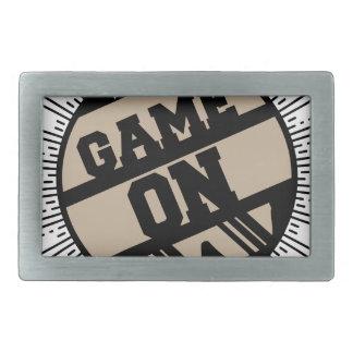 Game on rectangular belt buckles