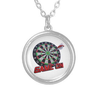 GAME ON SILVER PLATED NECKLACE