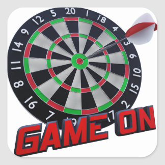 GAME ON SQUARE STICKER