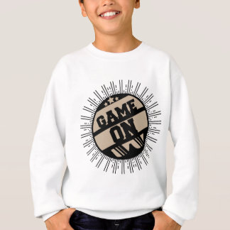 Game on sweatshirt