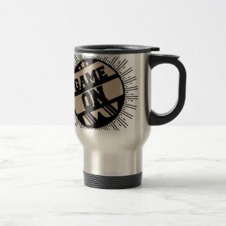 Game on travel mug
