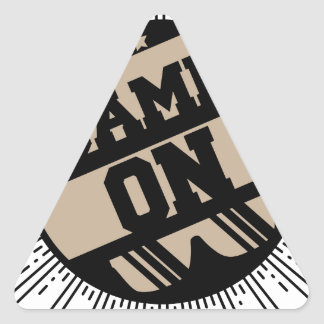 Game on triangle sticker