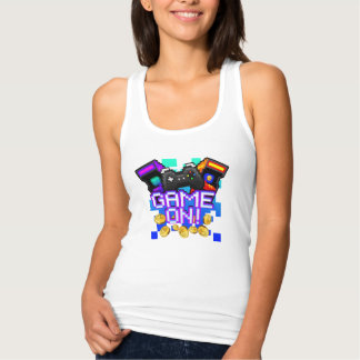 Game On! Women's white Tank Top