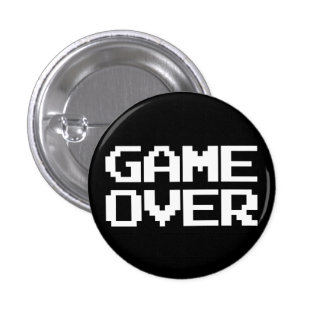 Game Over 1 Inch Round Button