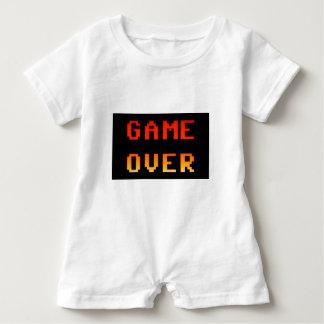 Game over 8bit retro baby romper