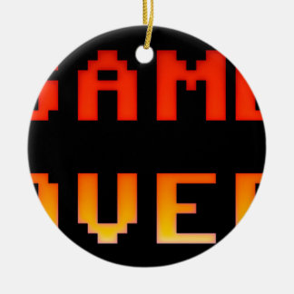 Game over 8bit retro ceramic ornament