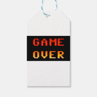 Game over 8bit retro gift tags