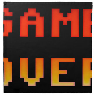 Game over 8bit retro napkin