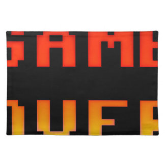 Game over 8bit retro placemat