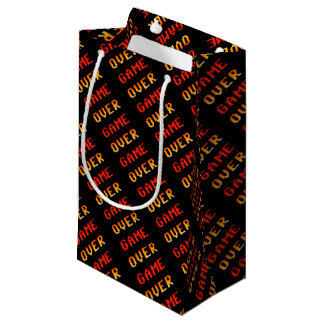 Game over 8bit retro small gift bag