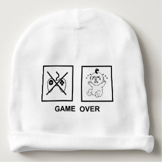 Game over baby beanie