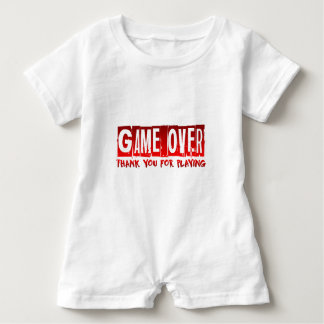Game over baby romper