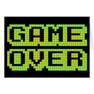 Game Over Birthday Card