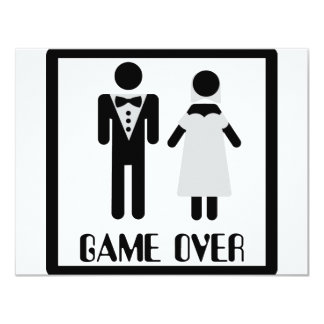 game over bridal couple icon card