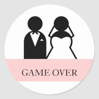 Game Over Bride Groom Clipart Wedding Stickers