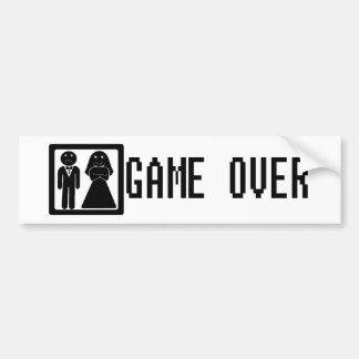 Game Over Bumper Sticker