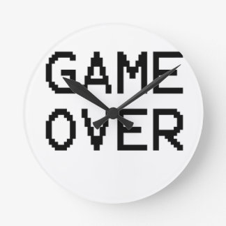 Game Over Classic Game Text Clock