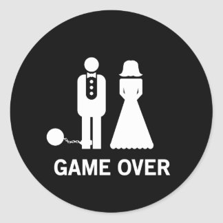 Game Over Classic Round Sticker
